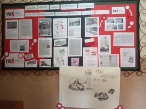 zdjęcie szkolnego miejsca patriotyczno-historycznego